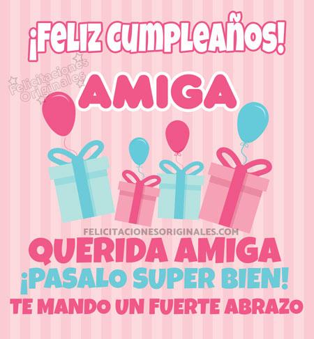 ºº Felicitaciones Amigas 100 Originales