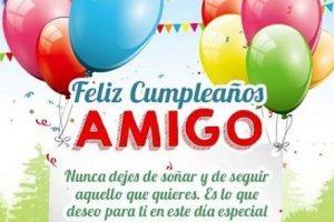 felicitaciones cumpleaños amigos