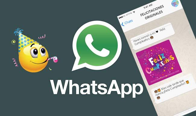 Felicitaciones originales whatsapp