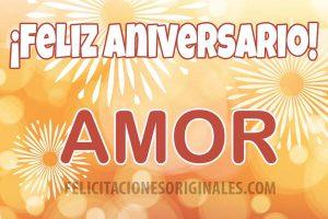 feliz aniversario amor mio